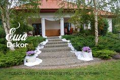 dekoracja domu panny młodej , gołębie , weselna dekoracja ogrodu , Pergola, Wedding Decorations, Outdoor Structures, Ideas, Outdoor Pergola, Wedding Decor, Thoughts