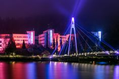 Ylistö Bridge during the City of Light-event.  Photo: Atacan Ergin
