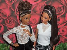 Black Barbie Friends - Featuring Made to Move Barbie and So In Style (S.I.S) Trichelle // OOAK style by Aneka