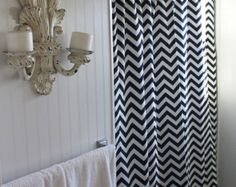 """50"""" x 78"""" Shower Stall Curtain in a Fabric You Love"""
