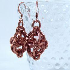 Copper Polyhedron Earrings