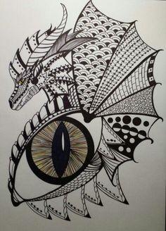 zentangle dragon - Bing images