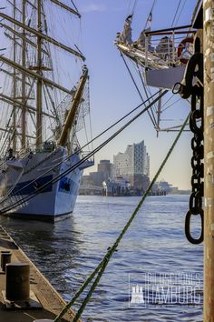 Hamburg Pictures Elbphilharmonie - Sailing training ship MIR with the Elbphilharmonie on the Hamburg Harbor Birthday 2016 Hamburg City, Hamburg Germany, Most Beautiful Cities, Beautiful World, Central And Eastern Europe, Landscape Pictures, Eurotrip, Tall Ships, Best Cities