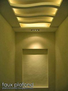 Déco faux plafond crème joyeux Faux Plafond Platre, Placo Platre, Plâtre  Plafond, Deco