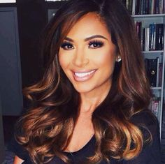 Marianna Hewitts Dark To Warm Brown Hair Makeup Balayage Ombre