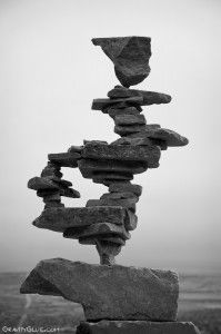 Stone Art- taking inspiration from Andy Goldsworthy | Gravity Glue