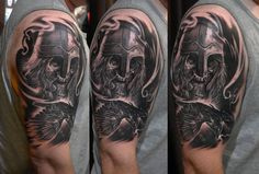 Chronic Ink Tattoo - Toronto Tattoo Viking-themed half sleeve tattoo done guest artist by Edgar.