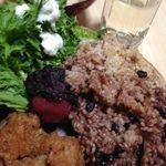 Cafe Go Vegan - 料理写真:ボリューム満点で美味しかったです!veganなのに、菜食とは思えなかったです! 月替りだけど、小鉢がほぼ日替わりとおっしゃられてました。また、来週いっちゃいます〜