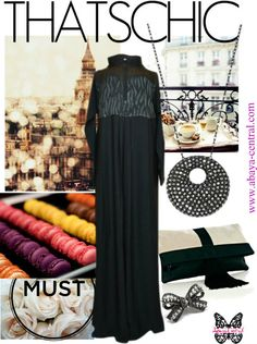 I heart coffee time in London feat. our classy Feline Grace. Shop Online:  http://www.abaya-central.com/detail.php?id=386