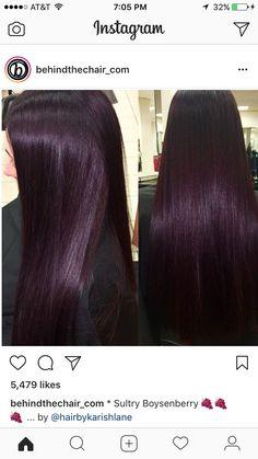 matrix so color 10 vol - All For Hair Color Trending Dark Violet Hair, Dark Hair, Cherry Hair Colors, Black Cherry Hair Color, Purple Black Hair, Chocolate Cherry Hair Color, Dark Burgundy Hair, Black Ponytail Hairstyles, Hair Trends
