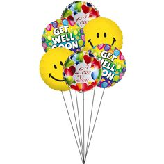 A big smile and love is all you need to heal someone. Perfectly combined balloon bouquet that delivers all love, smile and get well wishes t...