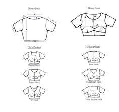 indiadesignerwear: Indian Saree Blouse Stitching Measurement Guide