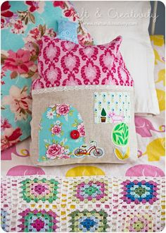 House Pillow Craft and Creativity