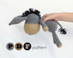 PDF Amigurumi donkey pattern. Instant download file. by ittooktwo