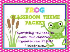 """TPT...FROG theme...cutesy...love the behavior clip chart (included)...might add a top tier to it of my own (""""outstanding"""") :)"""