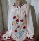 Ie romaneasca din panza topita,camasa populara traditionala Romania, Costume, Traditional, My Style, Tops, Fashion, Moda, Fashion Styles, Fasion