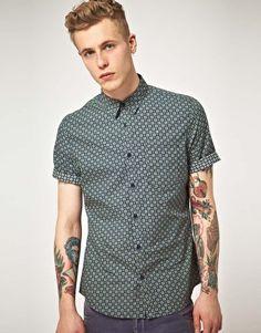 ASOS Printed Short Sleeve Shirt