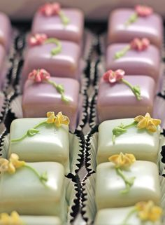 Petits Fours Demitasse - Lavender Bloom and Bourbon Vanilla