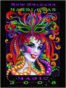 Andrea Mistretta Mardi Gras Poster 2008