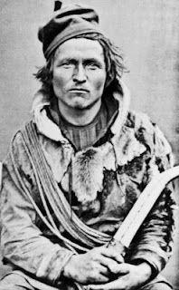 Resident of Bear Island • Samisk man. Nomad Salomon Henriksson Pilto, Sweden. Photo Credits: Norsk Folkemuseum