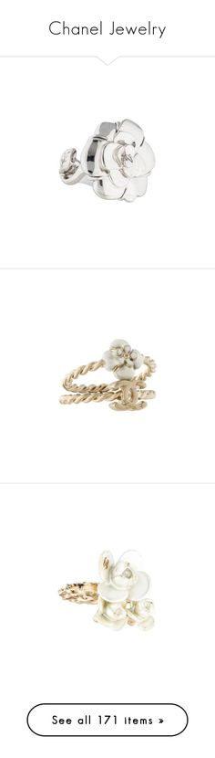 """""""Chanel Jewelry"""" by bleubeauty1 on Polyvore featuring jewelry, rings, chanel ring, flower jewelry, enamel flower ring, enamel ring, flower cocktail ring, necklaces, multi strand beaded necklace and multiple chain necklace"""
