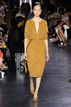 A call to the '70s- summer suede rules the runway. See more of the top 6 trends spotted at NYFW: