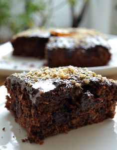 1 Brownie, 2 Ways - Dash of (Vegan) Butter Cooking Cake, Cooking Recipes, Sweets Recipes, Cake Recipes, Greek Cake, Greek Desserts, Greek Recipes, Sweet Cooking, Chocolate Sweets