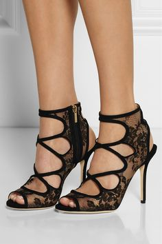 0526506b0a35 Jimmy Choo - Jalislo cutout suede and lace sandals