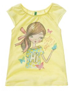 T-shirt with cap sleeves - T-SHIRTS AND TOPS - GIRL - KIDS