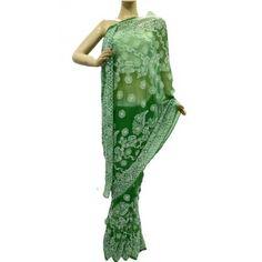 Chiffon Saree Lucknow Chikan (MQBR5430)