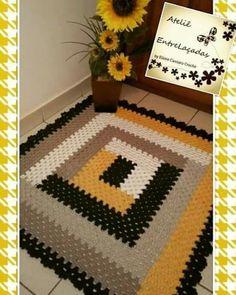 Carpet Runners For Stairs Uk Crochet Mat, Crochet Rug Patterns, Crochet Carpet, Crochet Daisy, Rainbow Crochet, Crochet Home, Crochet Doilies, Crochet Stitches, Carpet Runner