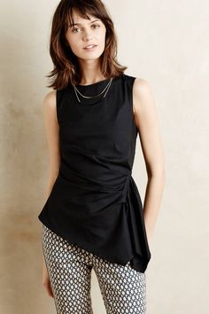 Gathered Poplin Tank by Bailey 44 #anthrofave #anthropologie