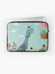 A durable zipped laptop sleeve protects from scratches and minor impacts. Keep your laptop safe! #laptopsleeve #laptopcase #laptopbag #computerbriefcase #laptoppouch #kidslaptopcase