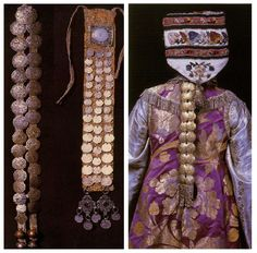 Tatar costume beginnings of V mid XIX century. Cloth badges/plaques.