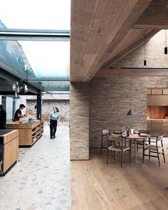 restaurant noma (@nomacph) | Twitter Restaurant Noma, Restaurant Design, Industrial Bedroom Design, Riverside Hotel, Kitchen Dining, Dining Room, Cliff House, Interior And Exterior, Interior Design