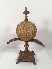 "Victorian Pin Cushion w/ Metal Stand & Cork Sphere 11"" x 4"""