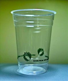 Compostable clear cold beverage cups made from plant starch