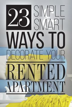 23 Cleverly Creative Ways To Decorate Your Rented Apartment... or your home if you just don't want to go too permanent :)