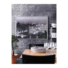 VILSHULT Bild mit Rahmen IKEA Motiv von Jean-Marc Charles. Fertig zum Aufhängen.