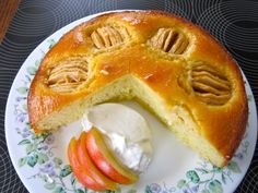 Apple Cake with Apricot Jam Glazing