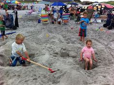 Having a blast at the Sand Castle Contest