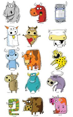 funny cows (character design)