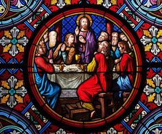 IMAGE OF STAINED GLASS LAST SUPPER JESUS COMPUTER MOUSE PAD OR HOT PAD #UnbrandedGeneric