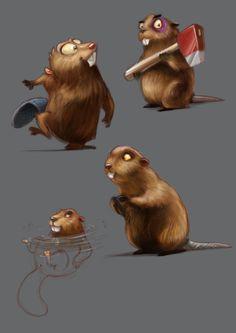 Beaver concept., Glenn Melenhorst on ArtStation at http://www.artstation.com/artwork/beaver-concept