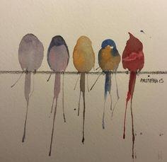 Beautiful Watercolor Paintings by Awaisha More