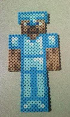 Minecraft Diamond Steve by KittenGrey
