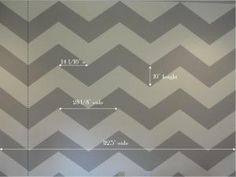 Chevron stripe how to- maybe this will let us do stripes without seeming too prison-y.