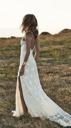 Choose ivory lace boho wedding dress with side slits spring summer bridal dress on DHgate.com recommended by bigear. Including halter top wedding dresses, party wedding dresses and perfect wedding dress, DHgate.com provides you multiple choices.