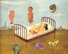 This is my favorite of her paintings. I love how her art is bluntly related to her life experiences. So fascinating.