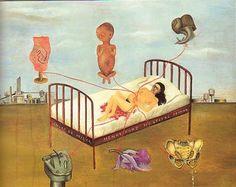 obra que refleja uno de los momentos + duros de su vida.Frida Khalo.